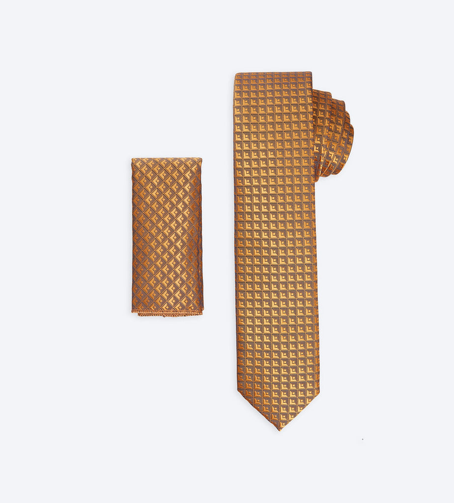 Gold Checkered Tie