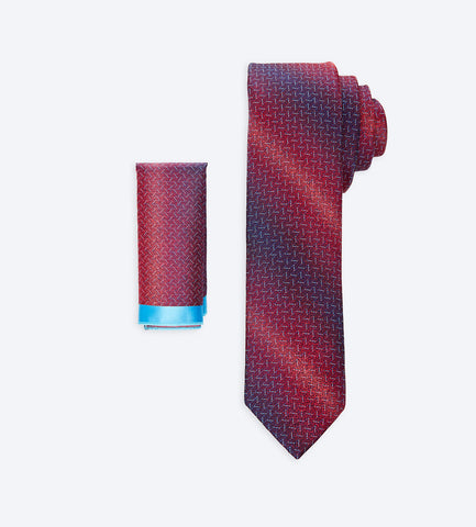 Burgundy-Purple Multicolor Tie