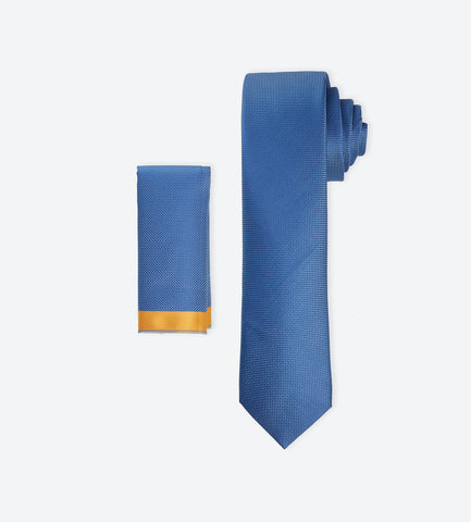 Blue Weave Tie. Bright color