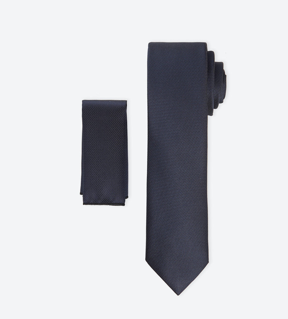 Midnight Navy Weave Tie