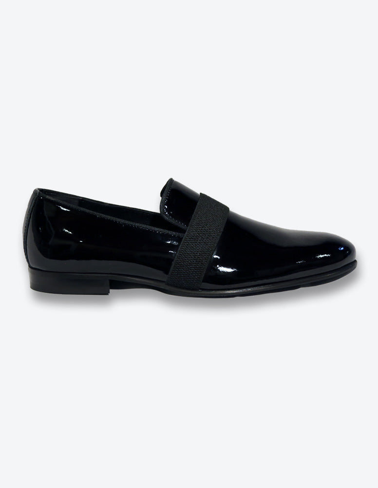 Black Patent Smoking Loafer