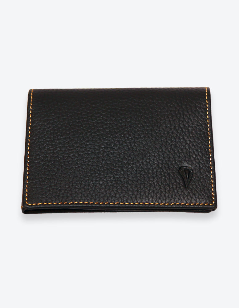 Black Wallet with Orange Interior