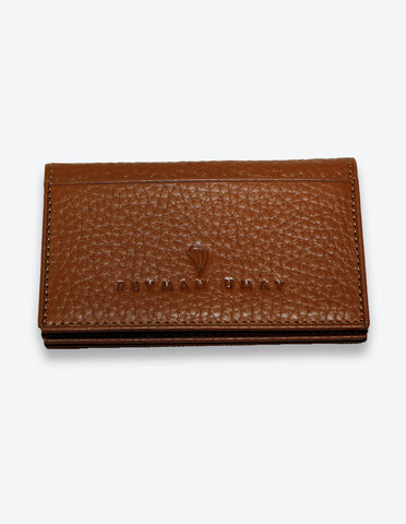 Tobacco Leather Card Case