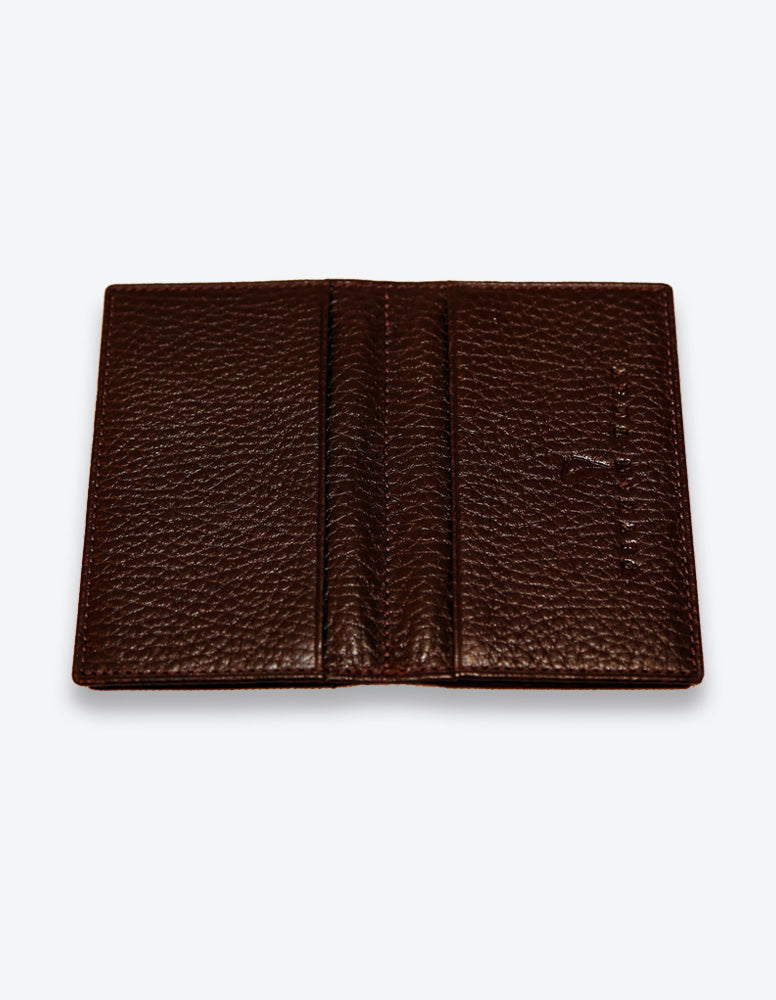 Chocolate Leather Card Holder