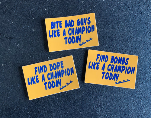 Champion Series Stickers
