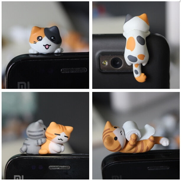 Chi's cat Anti dust plug for smartphone 3.5mm jack