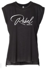 Rebel Roll Tee Black