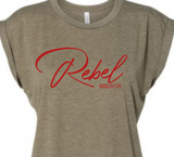 Roll Rebel Tee Heather Olive