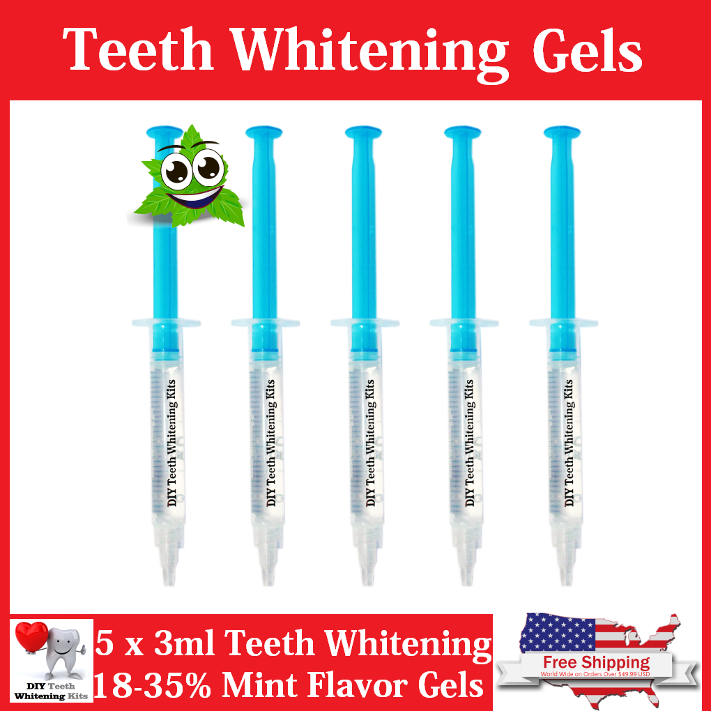 Teeth Whitening Gel Refills | Mint 18% or 35% Carbamide Peroxide Gels