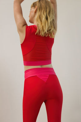CROP TOP FITNESS ADRENALINE ROUGE