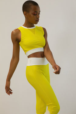 YELLOW ENERGETIC FITNESS TOP
