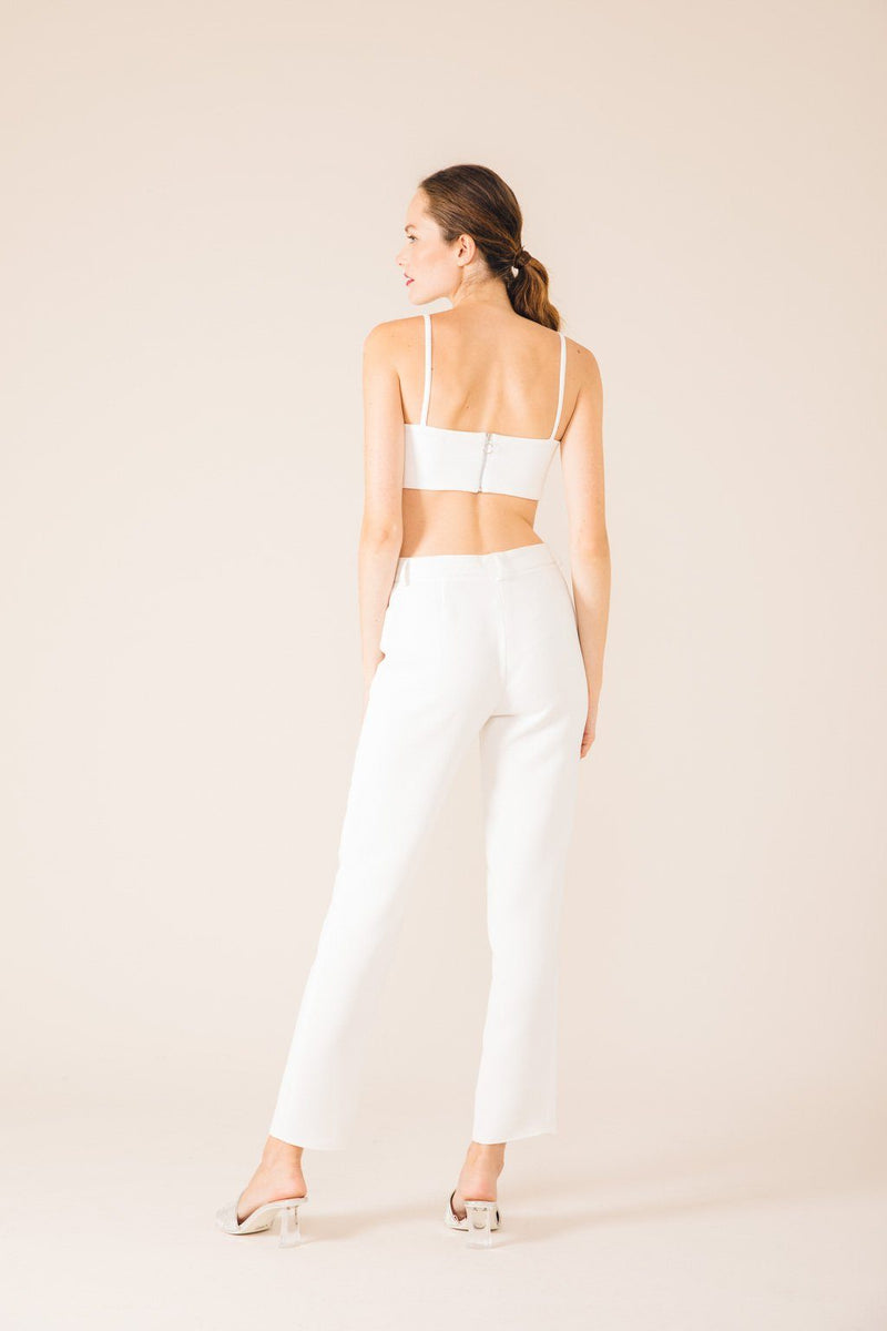 PANTALON TAILLEUR NEW-YORK BLANC
