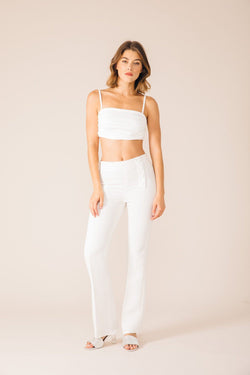 WHITE OSLO TAILORED PANTS