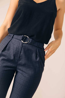TAILORED PANTS CASABLANCA TARTAN BLUE
