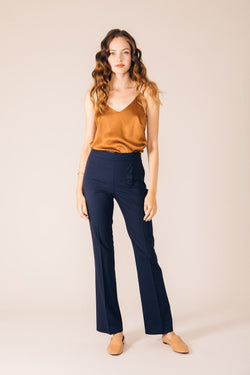 NAVY BLUE OSLO TAILORED TROUSERS