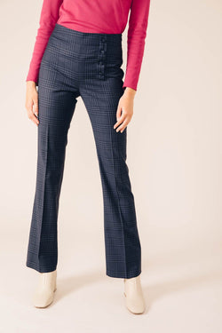 OSLO TARTAN BLUE TAILORED PANTS
