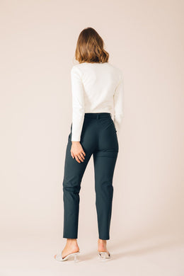BOTTLE GREEN CASABLANCA TAILORED PANTS