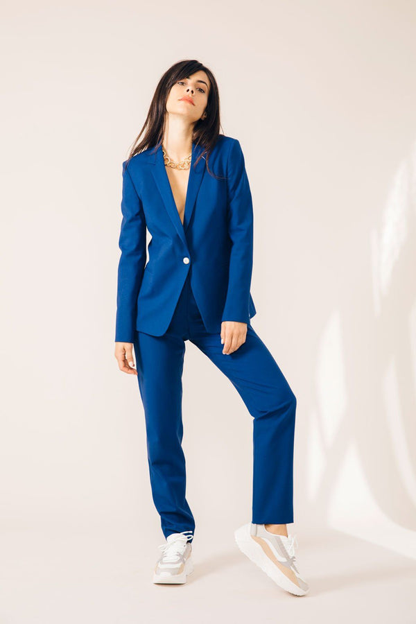 PANTALON TAILLEUR NEW-YORK COBALT