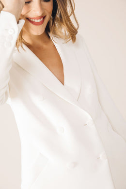 WHITE MOSCOW TAILORED JACKET