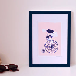 SMALL LARGE POSTER BI - LINOGRAVURE A5