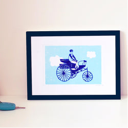 SMALL TRICYCLE POSTER - A5 LINOGRAVURE