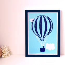 SMALL MONTGOLFIERE POSTER - A4 ILLUSTRATION