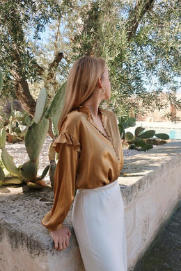 ISABELLE GOLD BLOUSE