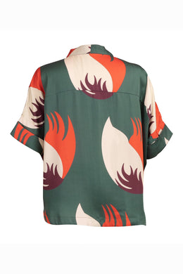 DELICIOUS SHIRT - GREEN CHIANG MAI PRINT