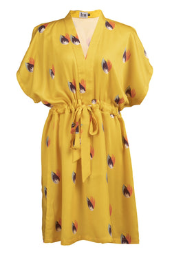 LA PIQUANTE DRESS - YELLOW SHANGHAI PRINT