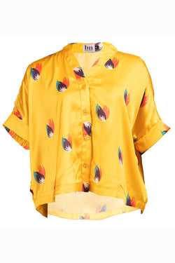 DELICIOUS SHIRT - YELLOW SHANGHAI PRINT
