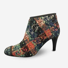 MULTICOLORED TWEED CHLOÉ ANKLE BOOTS