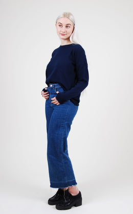 NAVY BLUE CHARLINE SWEATER