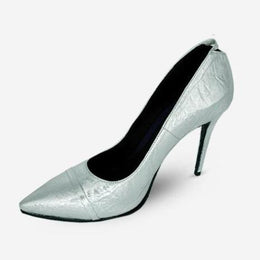 SILVER GRAY JOSEPHINE PUMPS