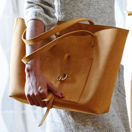 MAXIME CAMEL TOTE