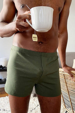 KHAKI GREEN BOXERS - PACK OF 2