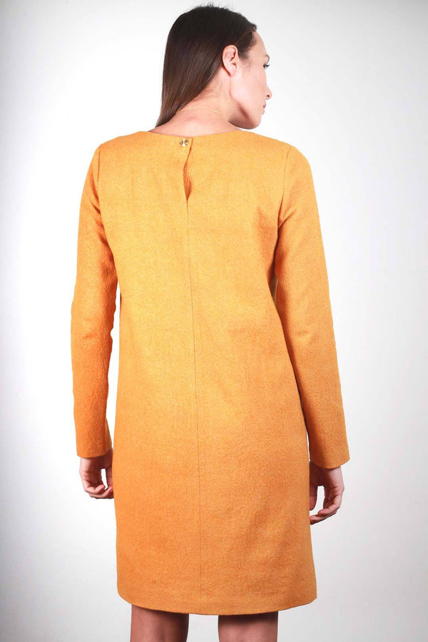 ROBE CAROLYNE EN FLANELLE ORANGE