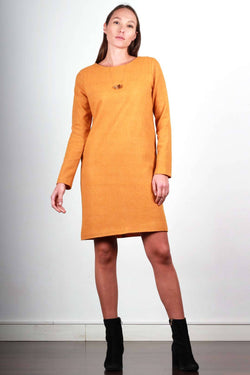 ORANGE FLANNEL CAROLYNE DRESS