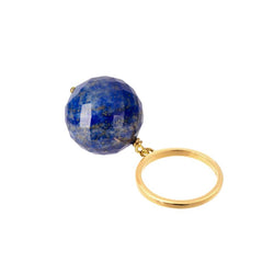 BAGUE BUBBLE LAPIS LAZULI OR