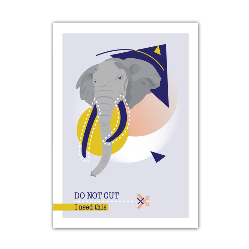 AFFICHE A3 DO NOT CUT - ÉLÉPHANT