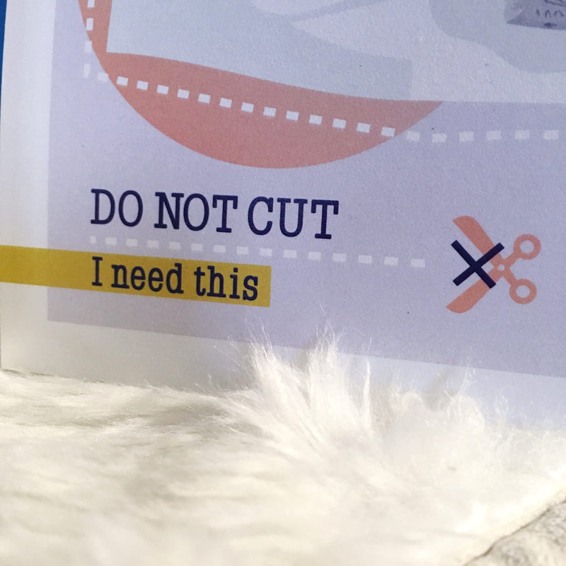 PETITE AFFICHE DO NOT CUT - OURS POLAIRE