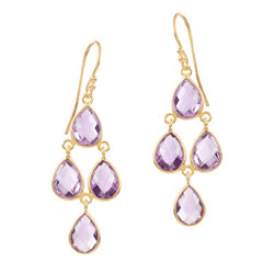 SOPHIA AMETHYSTE CHANDELIER EARRINGS