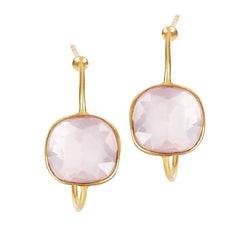 SOPHIA QUARTZ PINK EARRINGS