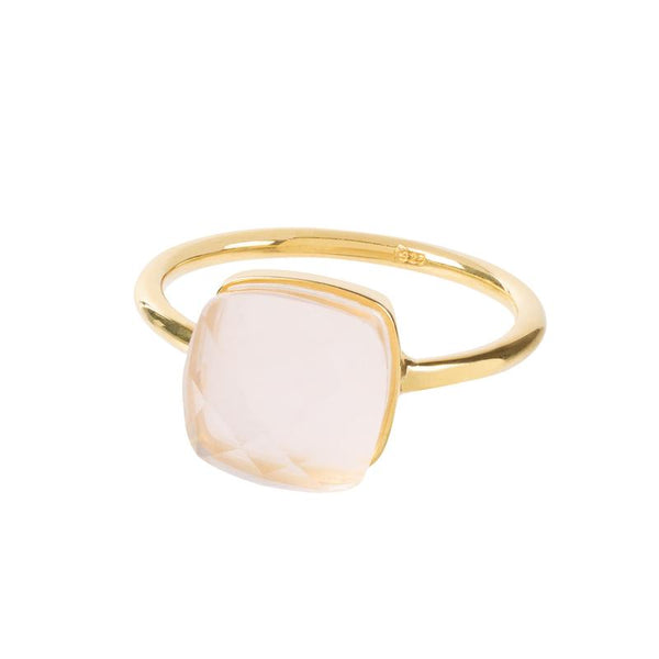 BAGUE SOPHIA QUARTZ ROSE OR