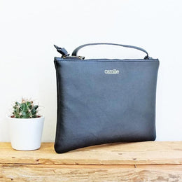 SMALL BONI APPLE SKIN BLACK BAG
