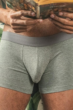 GRAY COMFORT BOXERS - PACK OF 2