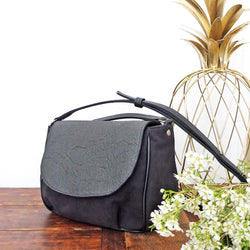 BAG FLORES PIÑATEX BLACK