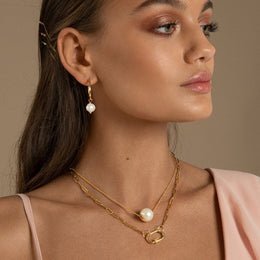 PAPERCLIP GOLD DAPHNE CHAIN NECKLACE
