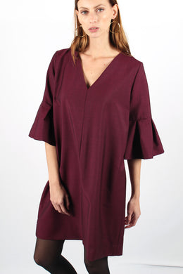 MICHÈLE BURGUNDY DRESS