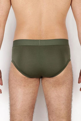 GREEN KHAKI BRIEFS - PACK OF 2