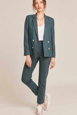 NEW-YORK CEDAR GREEN TAILORED PANTS